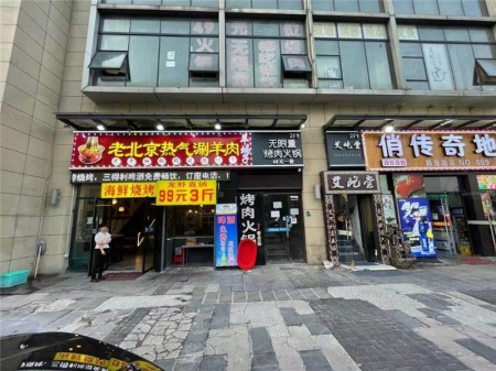 嘉定江桥江桥万达广场 通燃气 可重餐饮 沿街门面房出售 急用资金