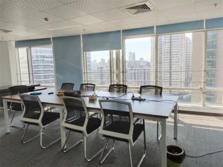 静安汉中路板块,恒丰路218号现代交通大厦,高区精装带家具办公装修