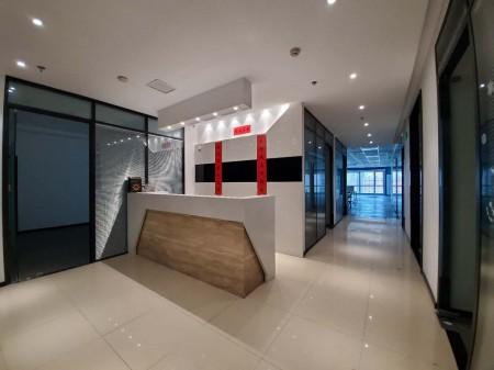 财富时代大厦,485平精装,正对电梯口,户型方正,独立空调